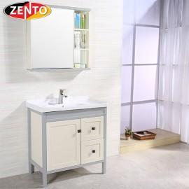 Bộ tủ, chậu, kệ gương Lavabo ZT-LV1079-Gray (Aluminum)