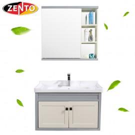 Bộ tủ, chậu, kệ gương Lavabo ZT-LV1078 (Aluminum)