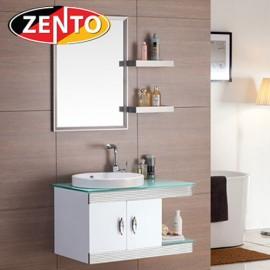 Bộ tủ, chậu, kệ gương Lavabo inox ZT-LV555-1W