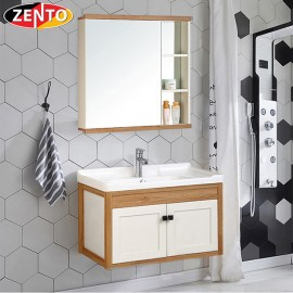 Bộ tủ, chậu, kệ gương Lavabo ZT-LV1071 (Aluminum)