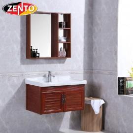 Bộ tủ, chậu, kệ gương Lavabo ZT-LV934 (Aluminum)