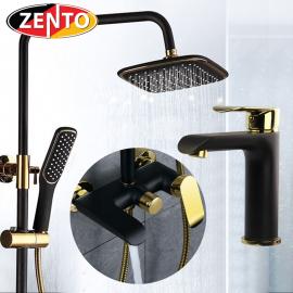 Combo sen cây + vòi lavabo Vintage B-G Zento KM105