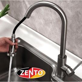 Vòi rửa bát nóng lạnh inox 304 Zento SUS5579 (dây rút)