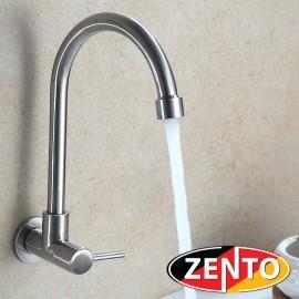 Vòi rửa bát đơn gắn tường inox304 Zento SUS4633