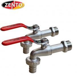 Combo 2 vòi vườn đồng tay inox Zento ZT706 (vòi xả lạnh)