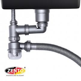 Bộ xi phông ống xả chậu rửa bát 1 hố cao cấp XP319
