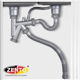 Bộ xi phông, ống xả chậu rửa bát 2 hố cao cấp XP420