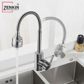 Vòi rửa chén bát nóng lạnh thân mềm Zenkin ZK25020