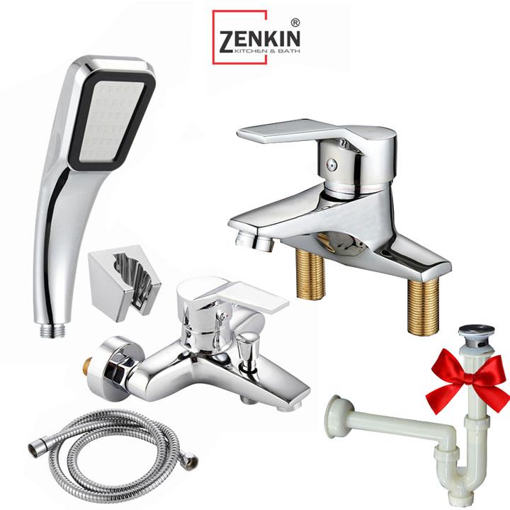 Combo sen tắm và vòi lavabo Zenkin ZK02-new