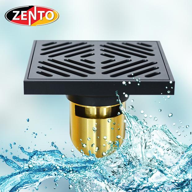 Thoát sàn chống mùi Black series Zento ZT578-1B (120x120mm)