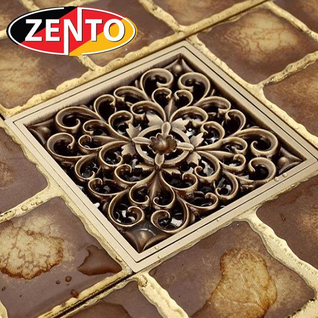 Thoát sàn chống mùi giả cổ 3D Zento ZT657