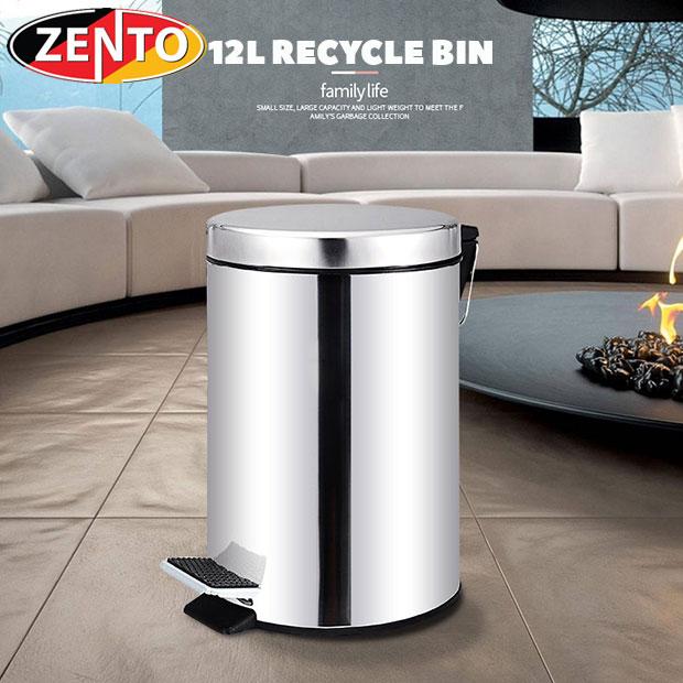 Thùng rác inox đạp chân 12L HC1270-12