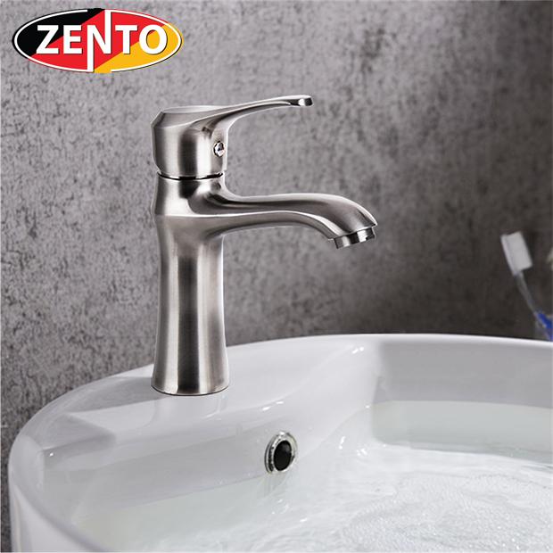 Vòi chậu lavabo nóng lạnh inox304 Zento SUS3302