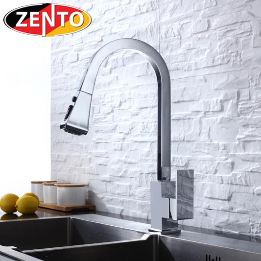 Vòi rửa bát nóng lạnh Pulldown Spray ZT5509-polished (Dây rút)