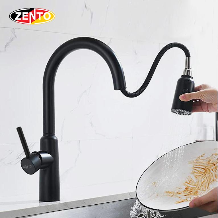 Vòi rửa chén bát nóng lạnh Pull-Down Spray ZT5526-B (Dây rút)
