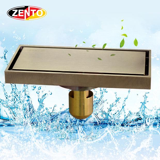 Thoát sàn chống mùi & côn trùng Z-line ZT595-Brushed AB (100x200mm)
